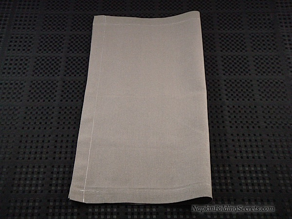 1 fold the napkin