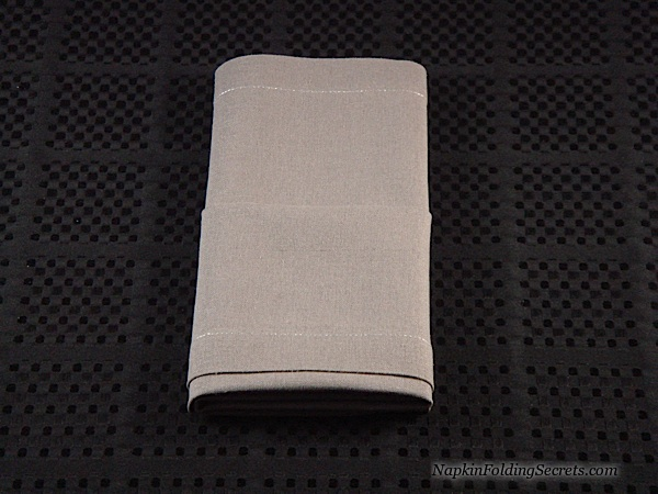 How to fold a Napkin into a Buffet Server Step 6