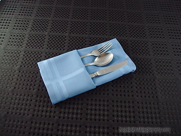 How to fold a Napkin into a Buffet Server