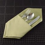 Fold a Diagnal Pocket Server with a Dinner Napkin